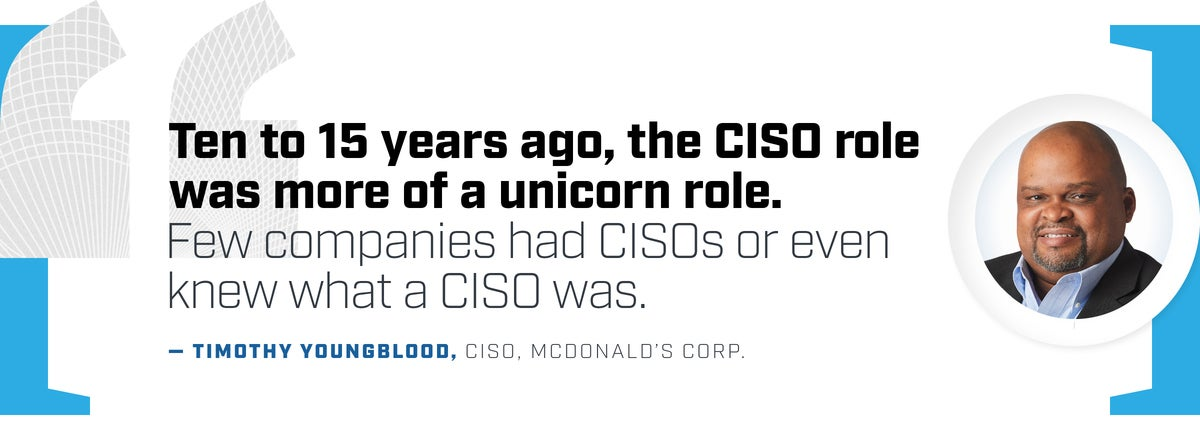 Quote  >  Timothy Youngblood, CISO, McDonald's Corp.