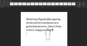 double space period Microsoft Word primary