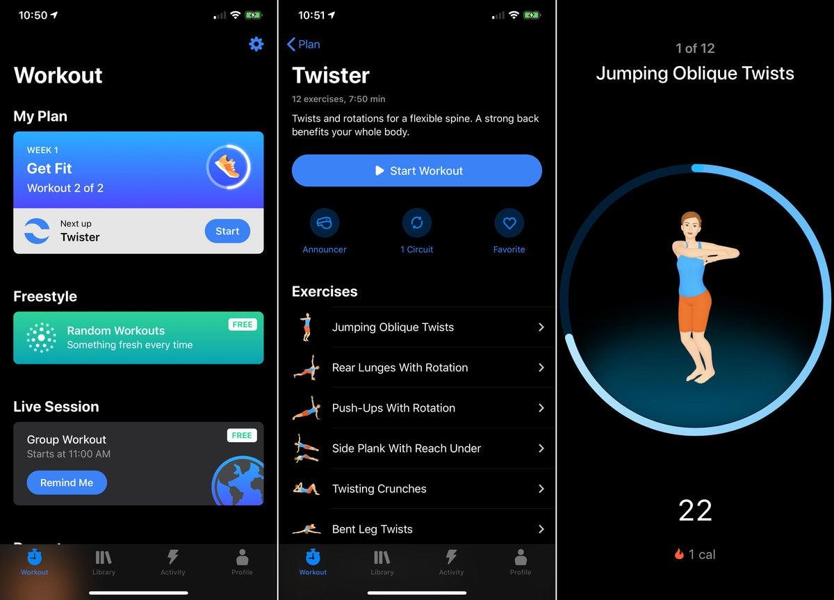 fitness apps seven