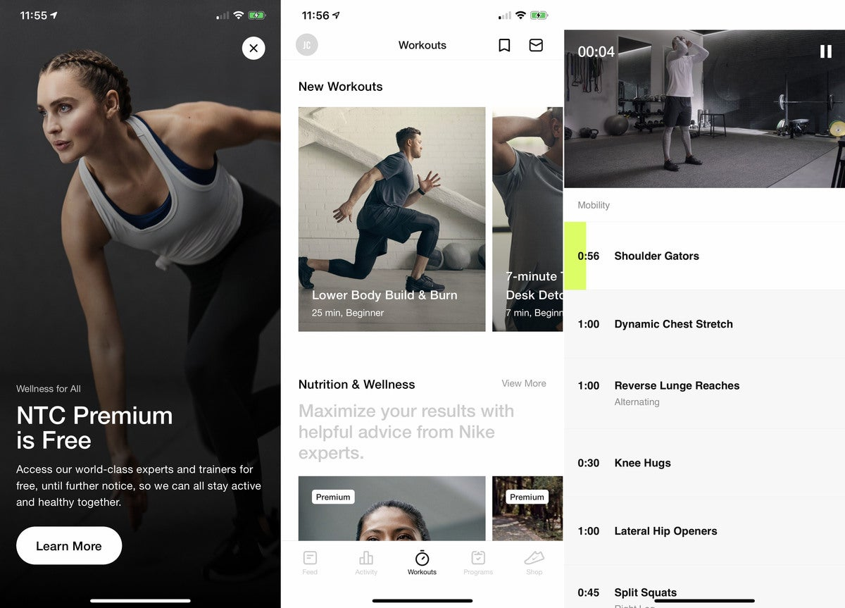 free fitness apps nike
