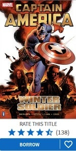 Captain America Winter Soldier Vol 1 cover on Hoopla