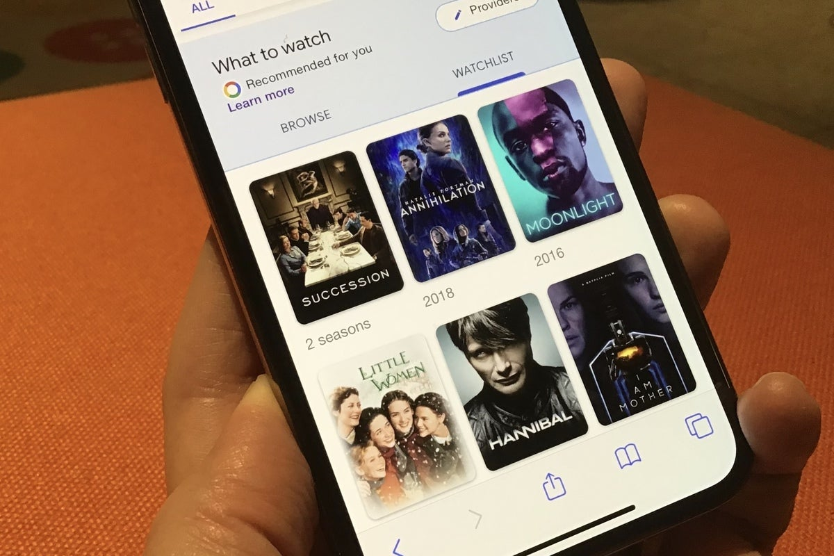 How to create a movie and TV show watchlist using Google Search