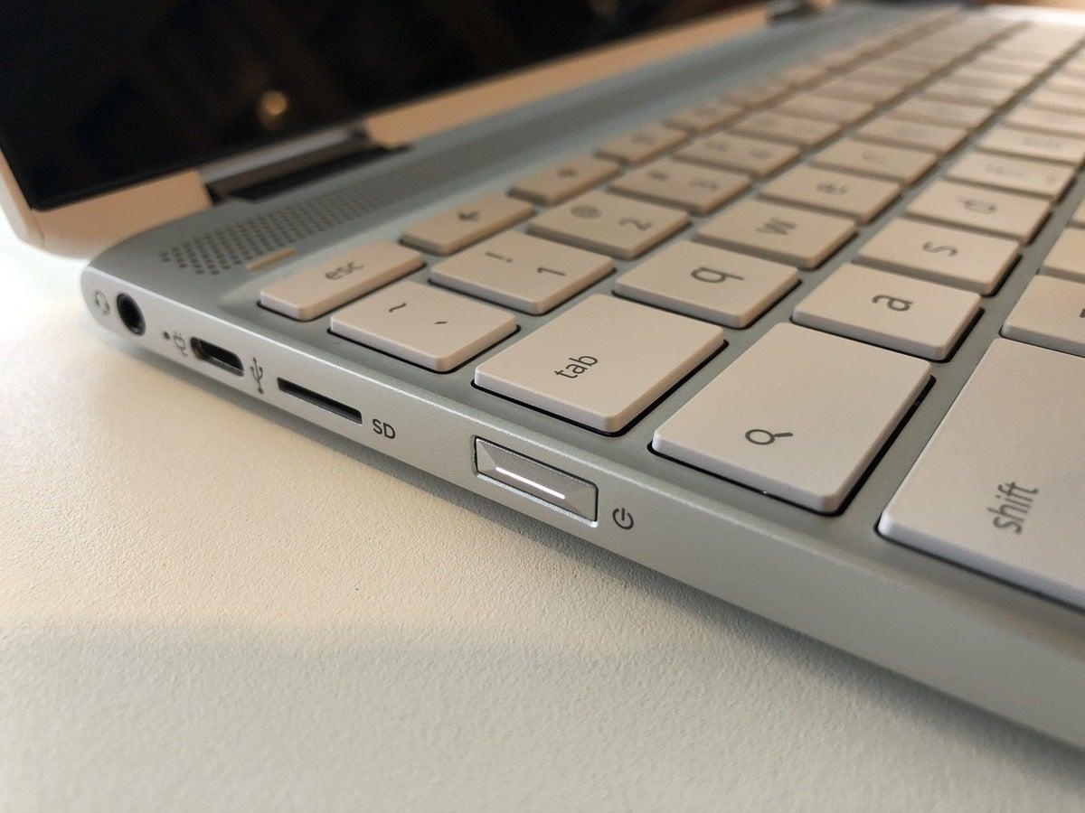 hp chromebook x360 12b power button