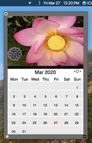 iclock date menu calendar