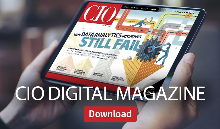 CIO digital magazine, April/May 2020