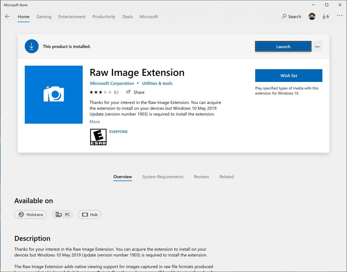 raw image extension
