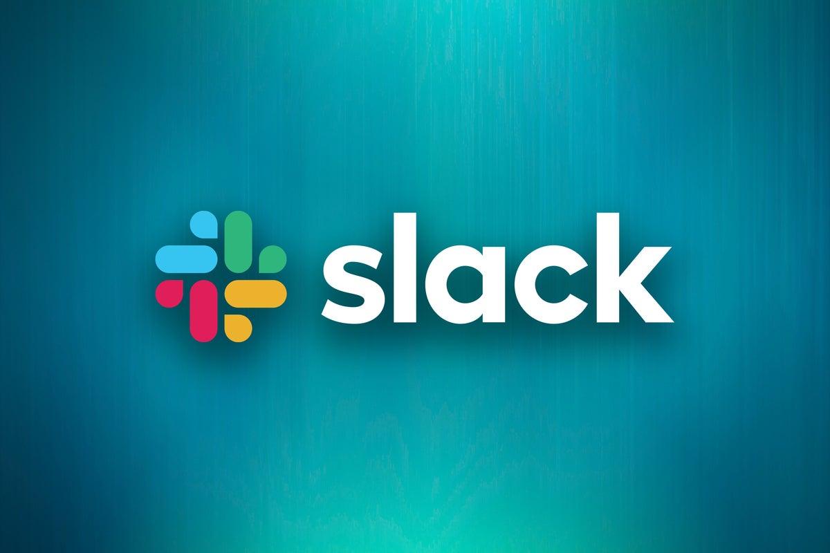 Slack logo, with background by Mudassir Ali ,CC0 via Pexels