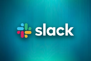 Slack logo, with background by Mudassir Ali ,CC0 via Pexels