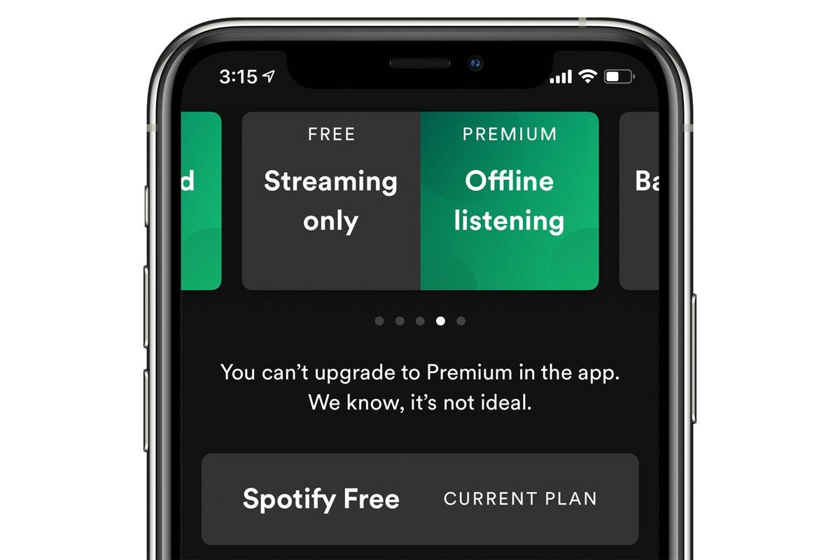 spotify premiuum signup ios