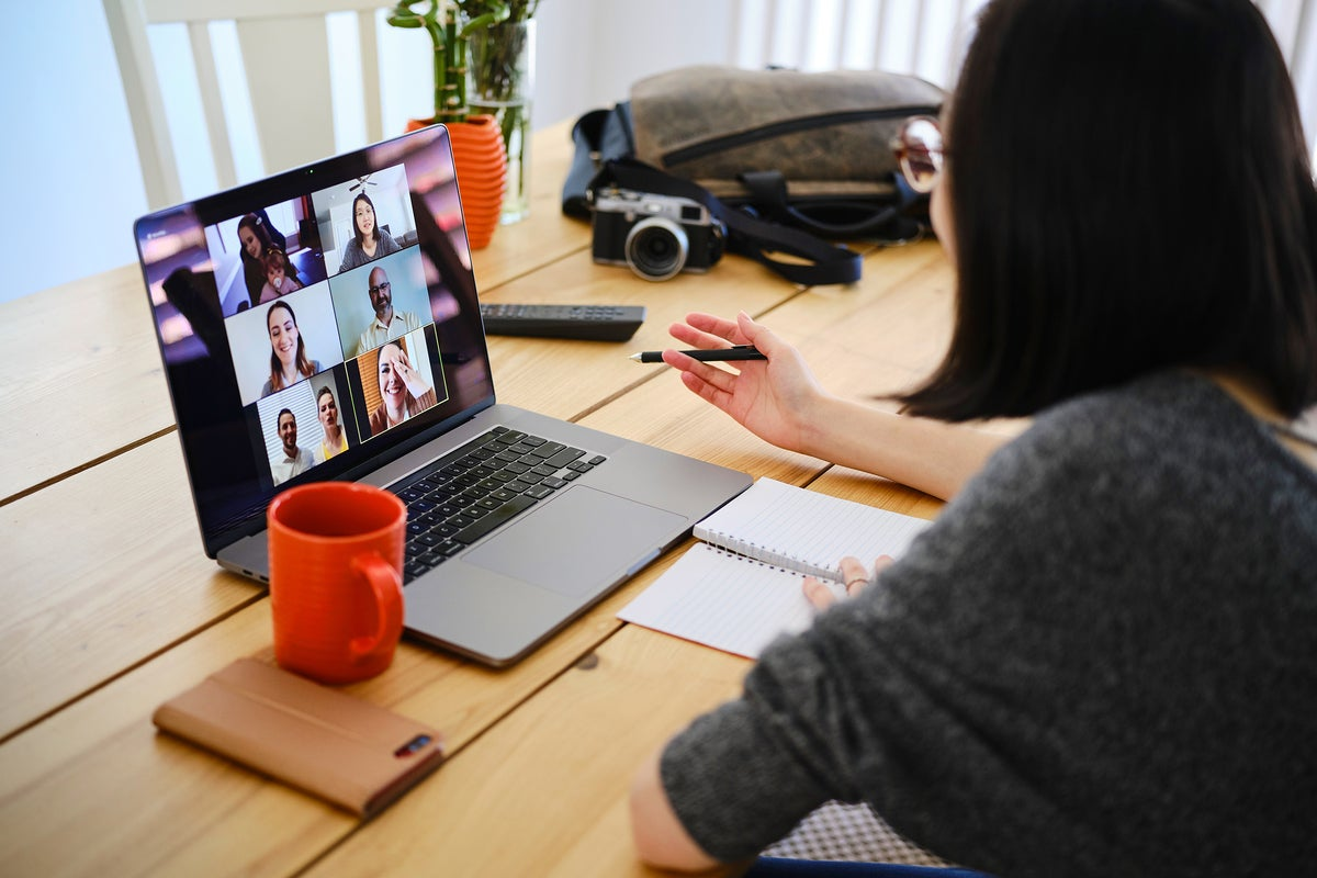video conferencing / remote work / online meeting