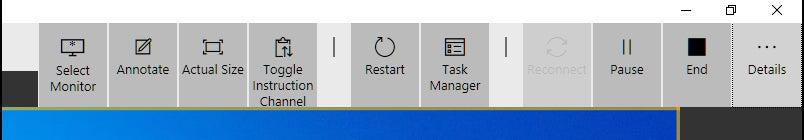 barra de herramientas de control win10 quick assist8