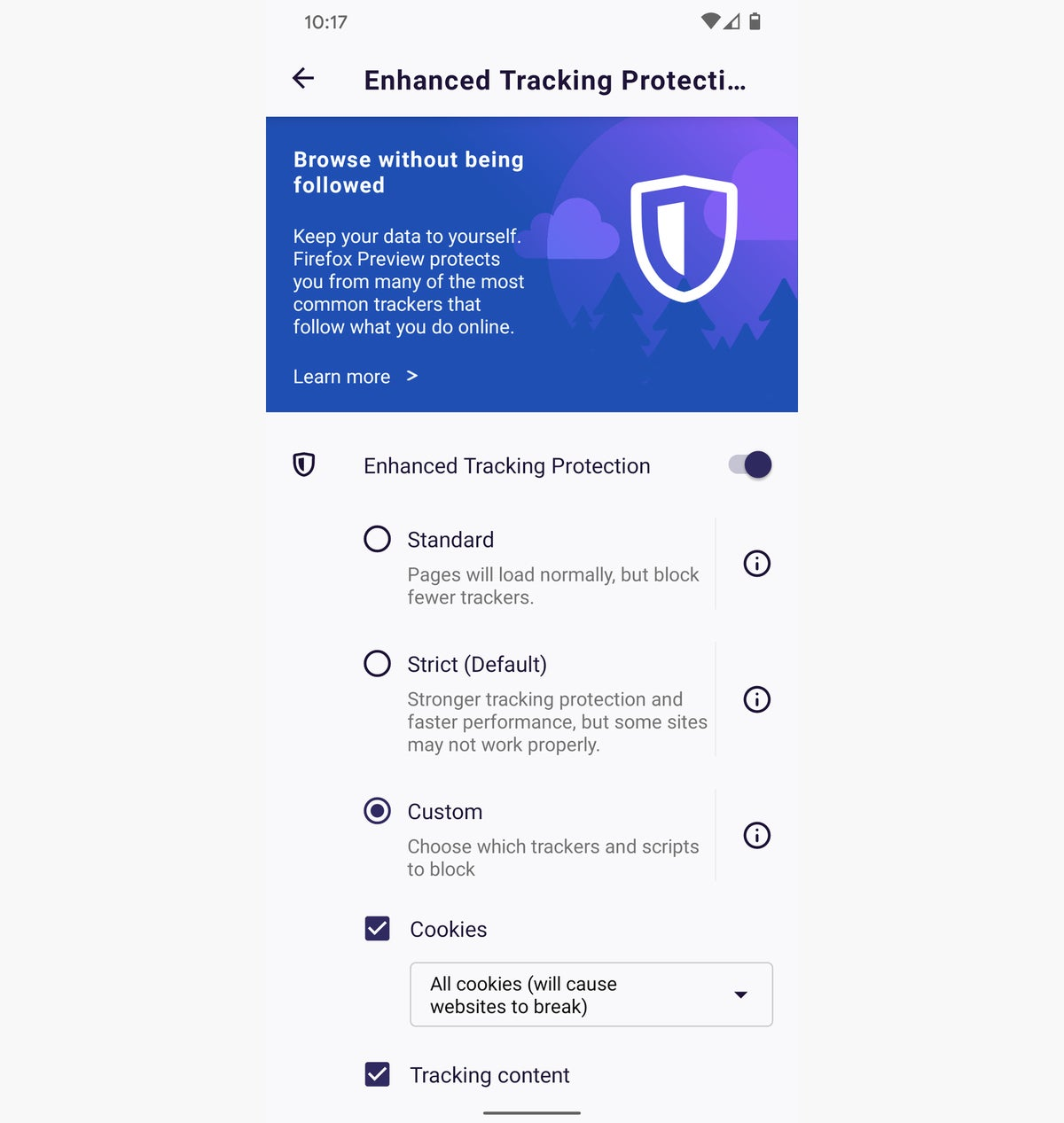 09a android privacy firefox tracking