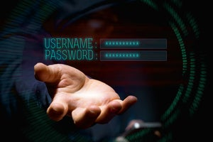 A conceptual representation of accessing username and password credentials.