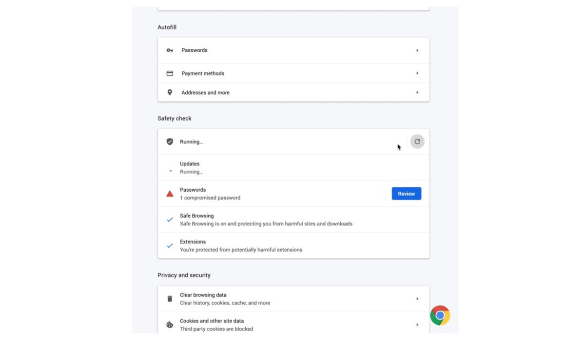 google chrome browser safety check