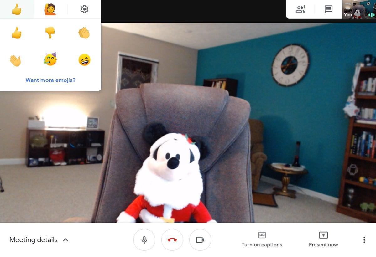 Google Meet Add-On: Silent Reaction (b)