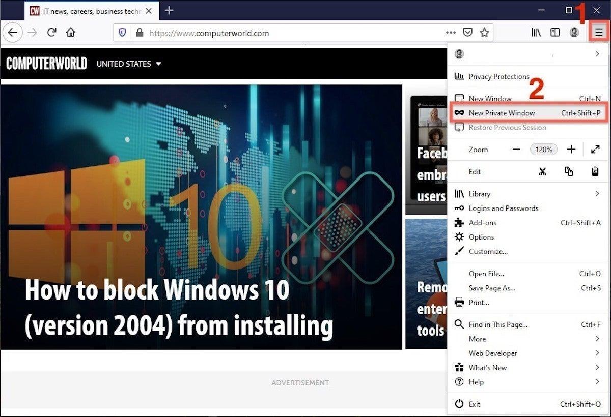 How To Go Incognito In Chrome Edge Firefox And Safari Computerworld