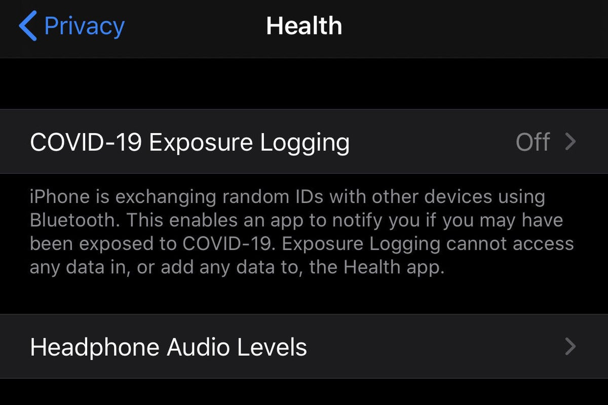 ios 13 5 covid settings