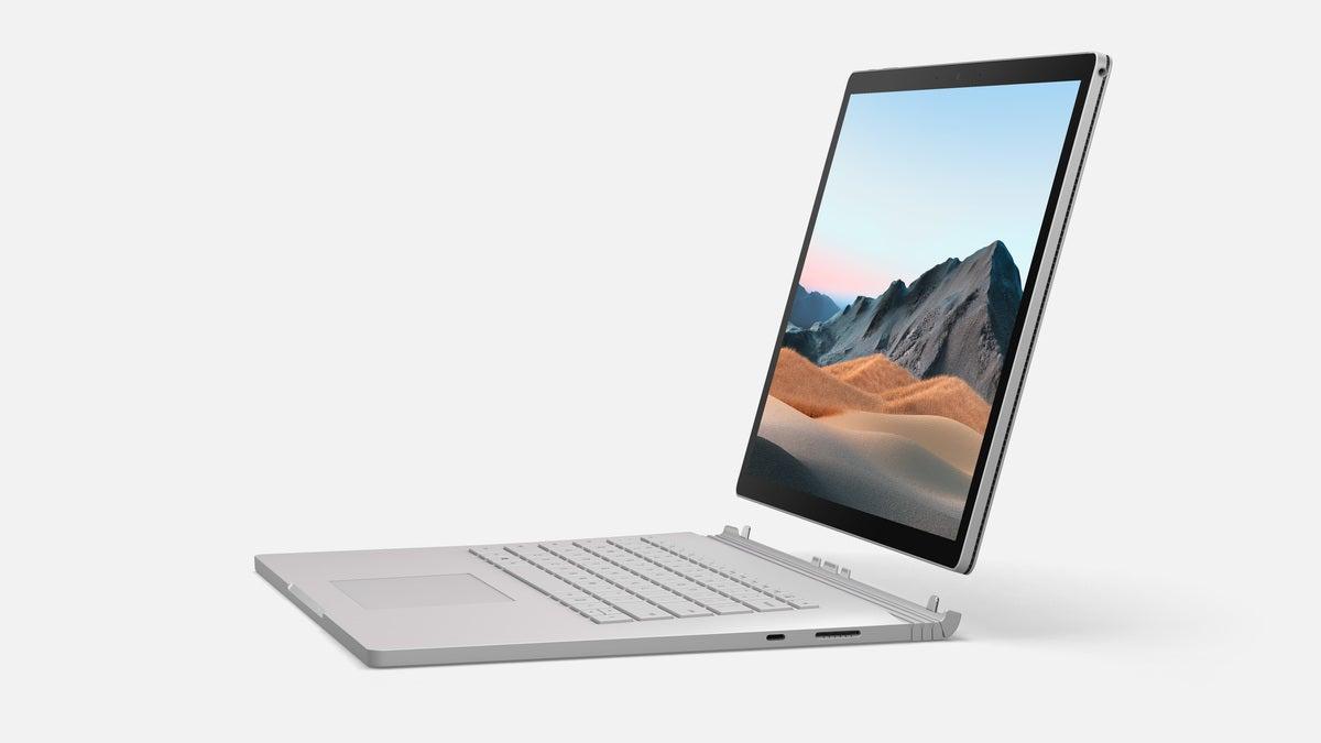 Microsoft surface book 3 side shot