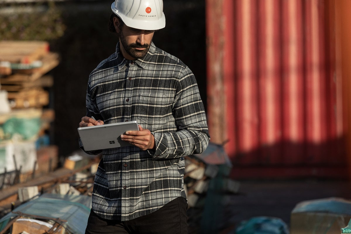 Microsoft surface go 2 being held