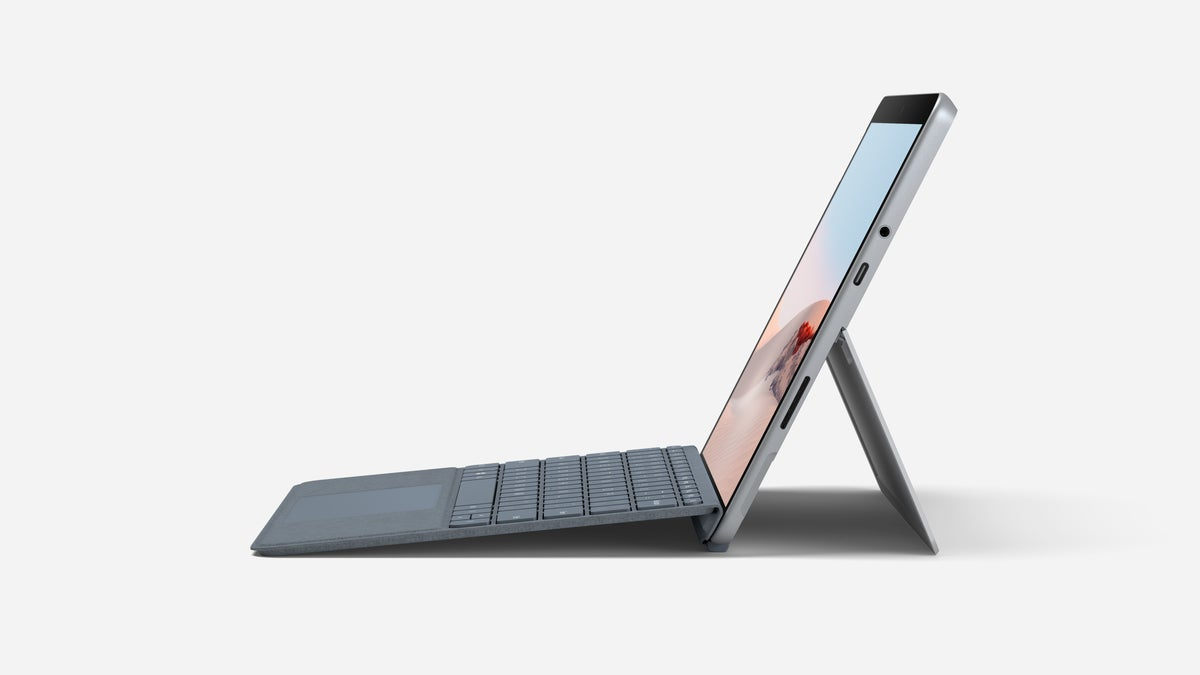 Microsoft surface go 2 side reclined with Signature Type Cover