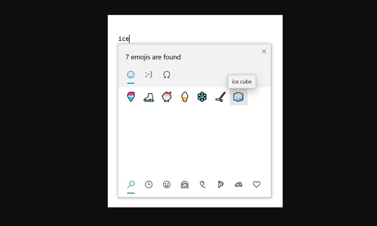 win10 emoji and kaomoji