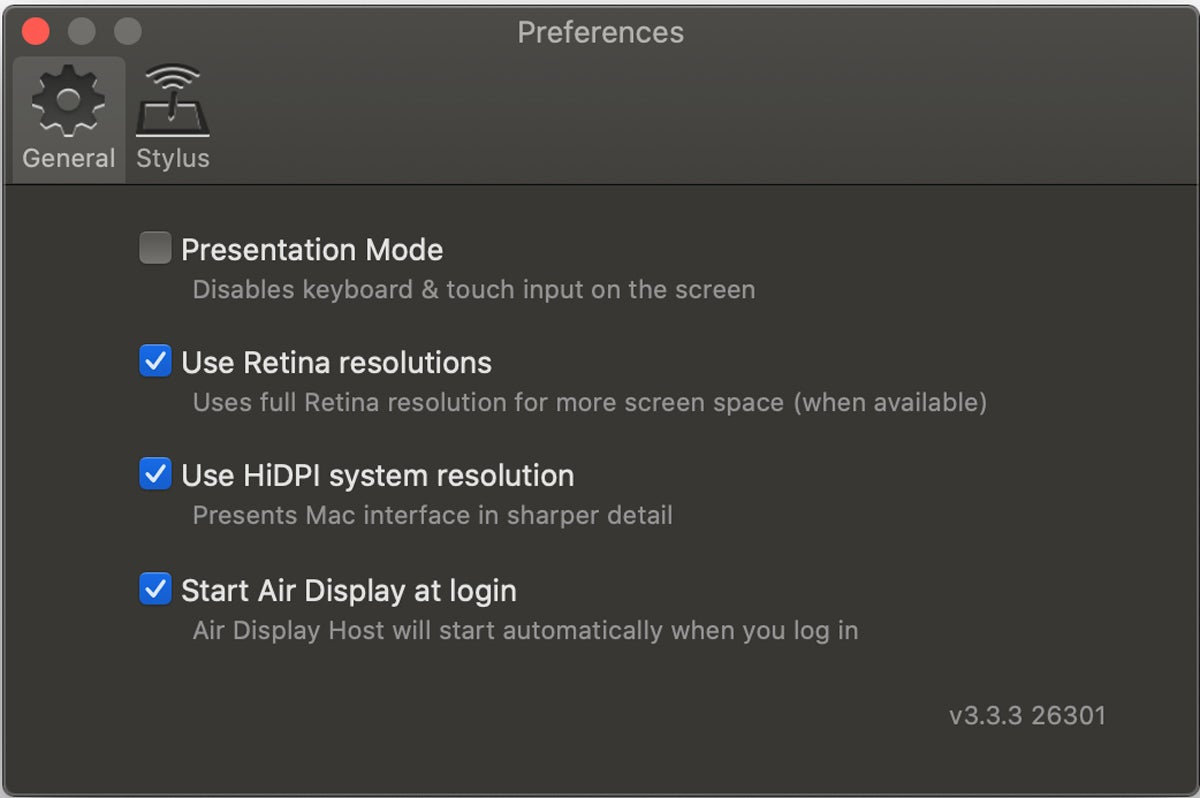 air display 3 host preferences