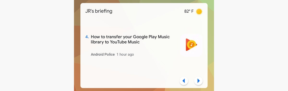 widgets de android noticias de google