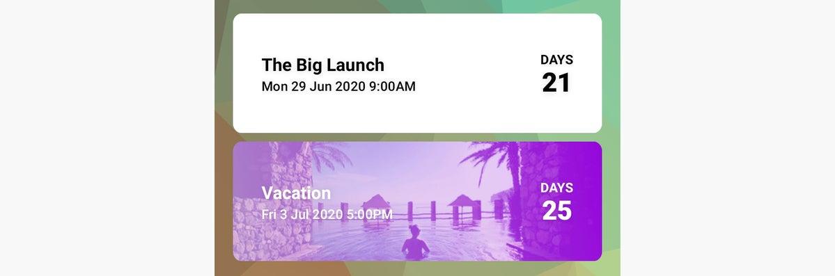 los widgets de Android date prisa