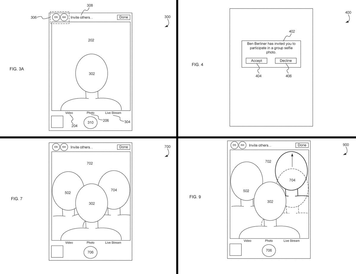 apple group selfie patent