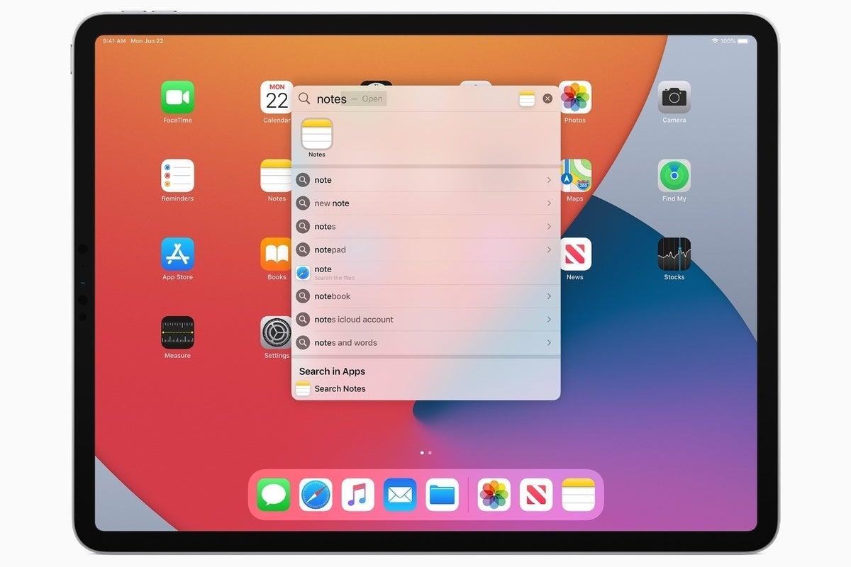 apple ipados14 universal search springboard wwdc20