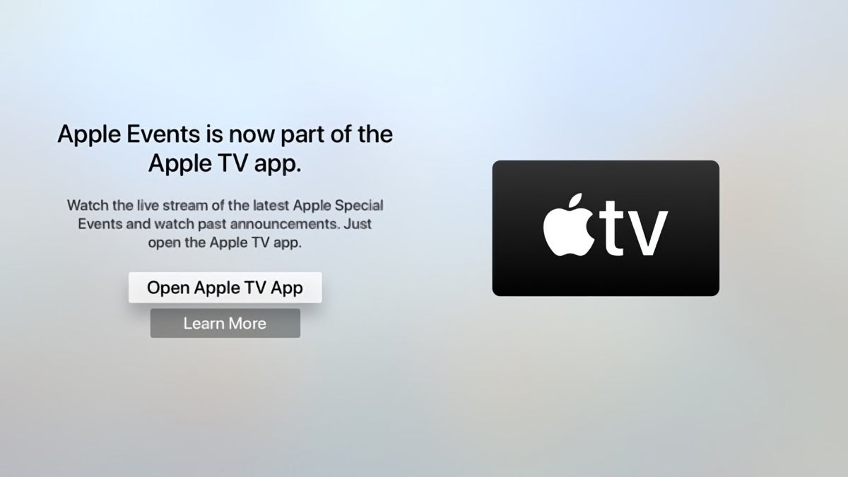 appletv event notification