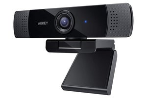 aukey FHD 1080p webcam on white background