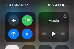 control center ios13 wifi status