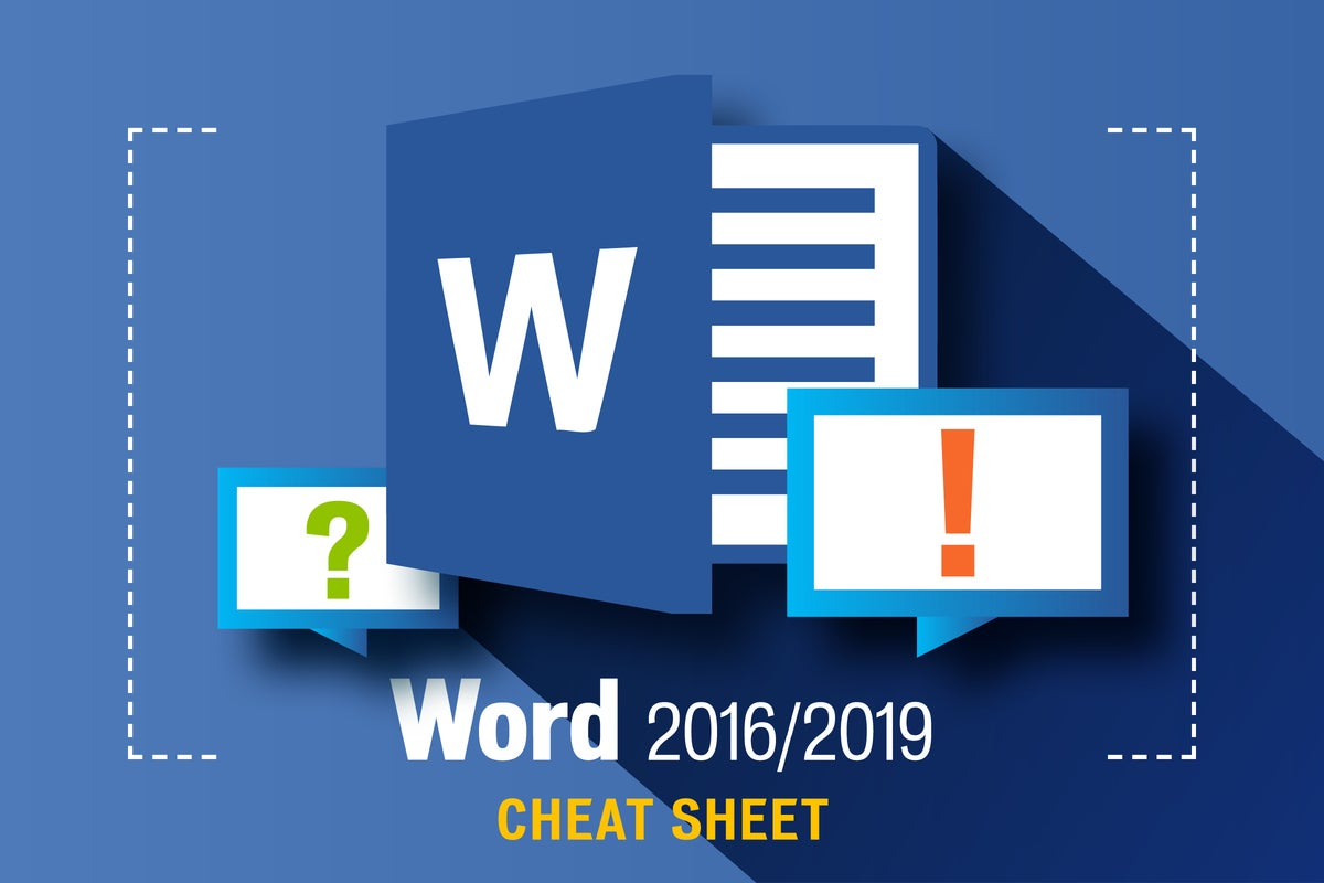 Word 2016 and 2019 cheat sheet
