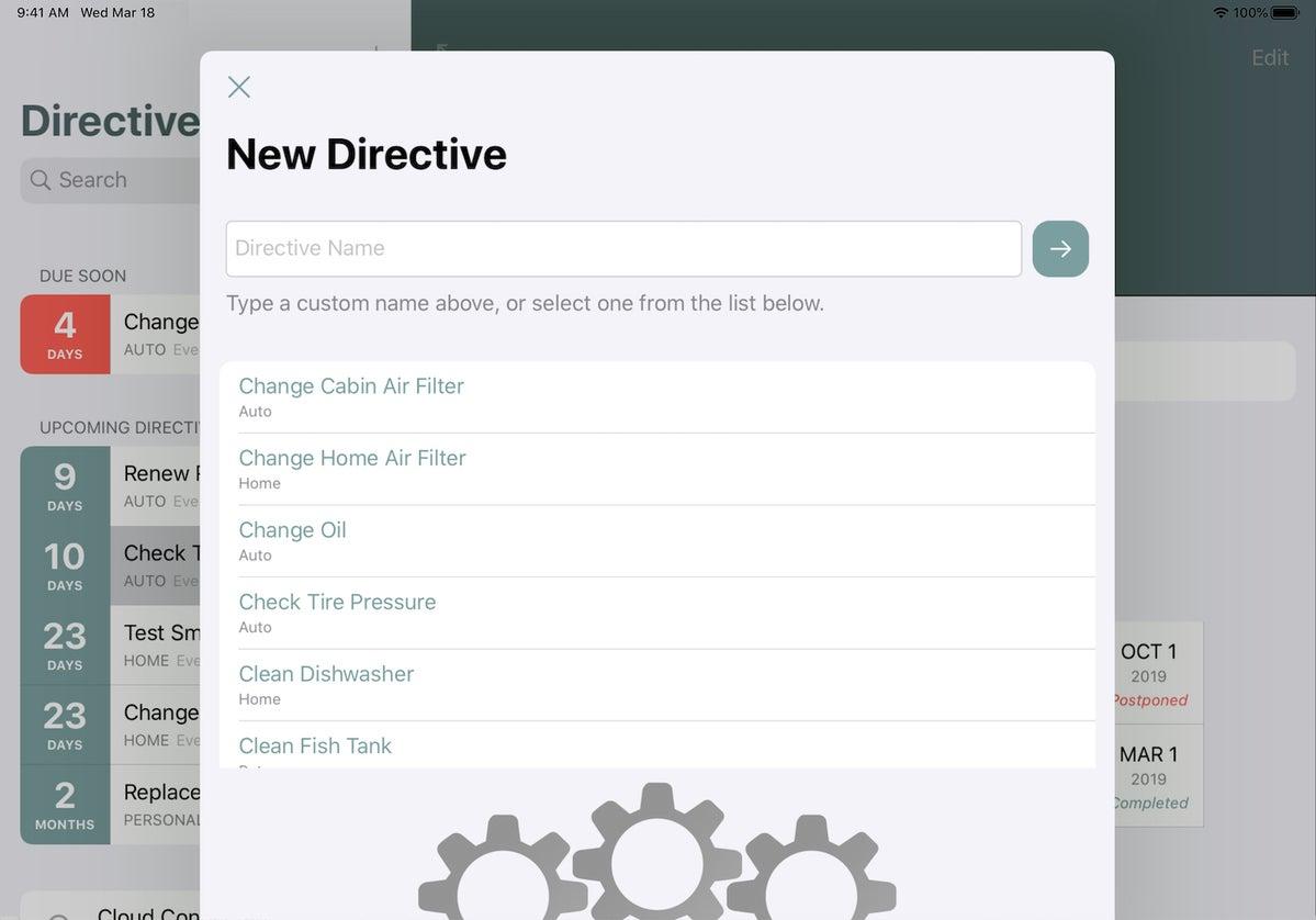 directive ipad create new
