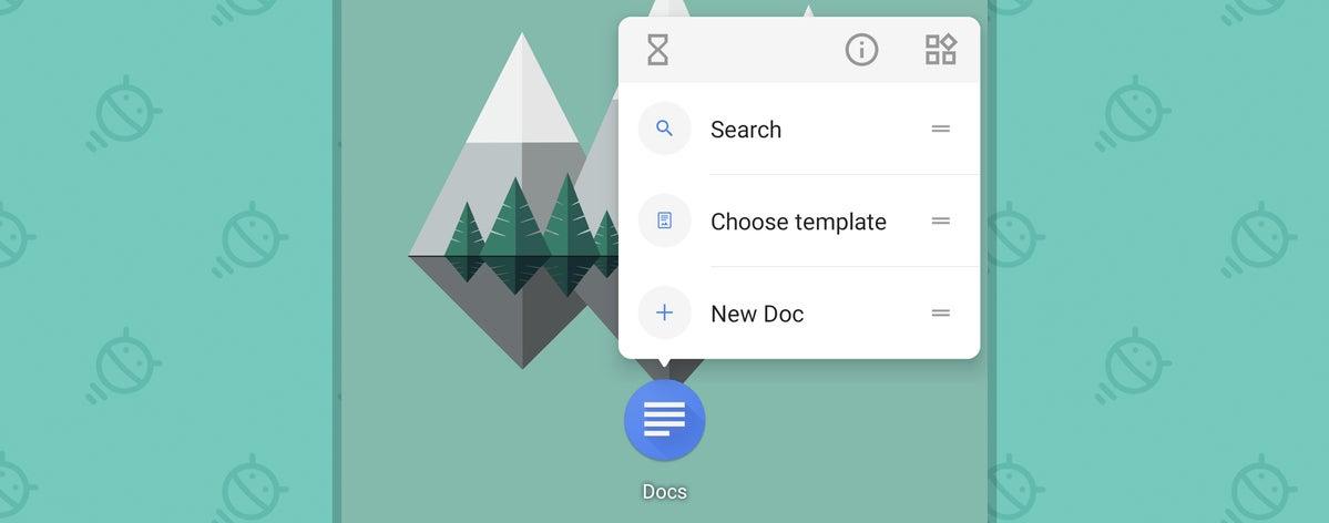 Google Docs Android: accesos directos a aplicaciones