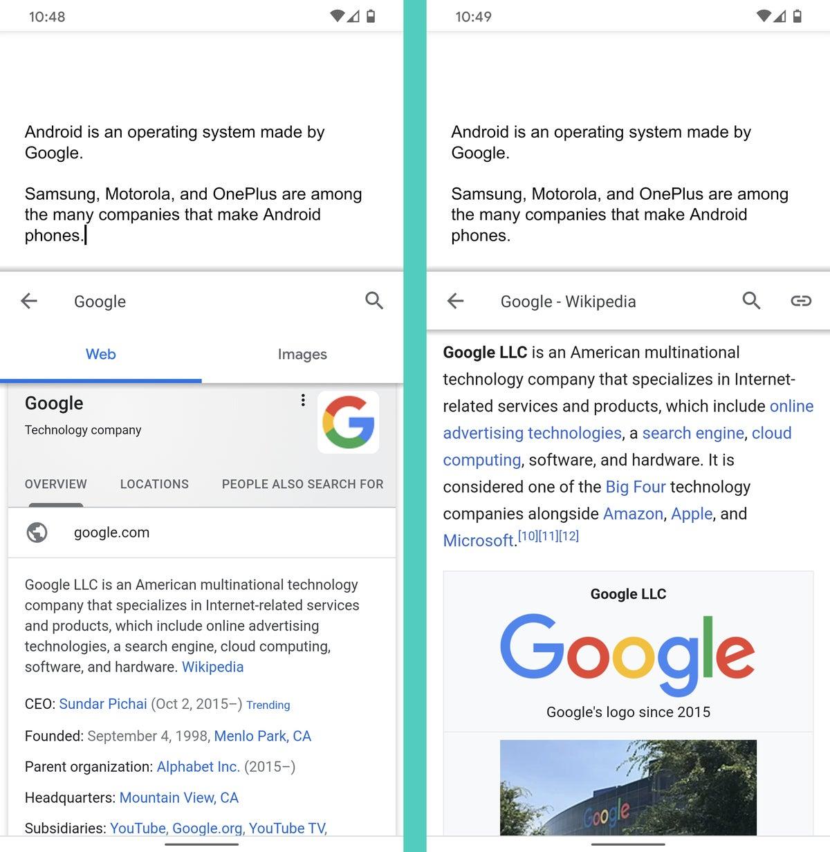 Google Docs Android: Explorar - web