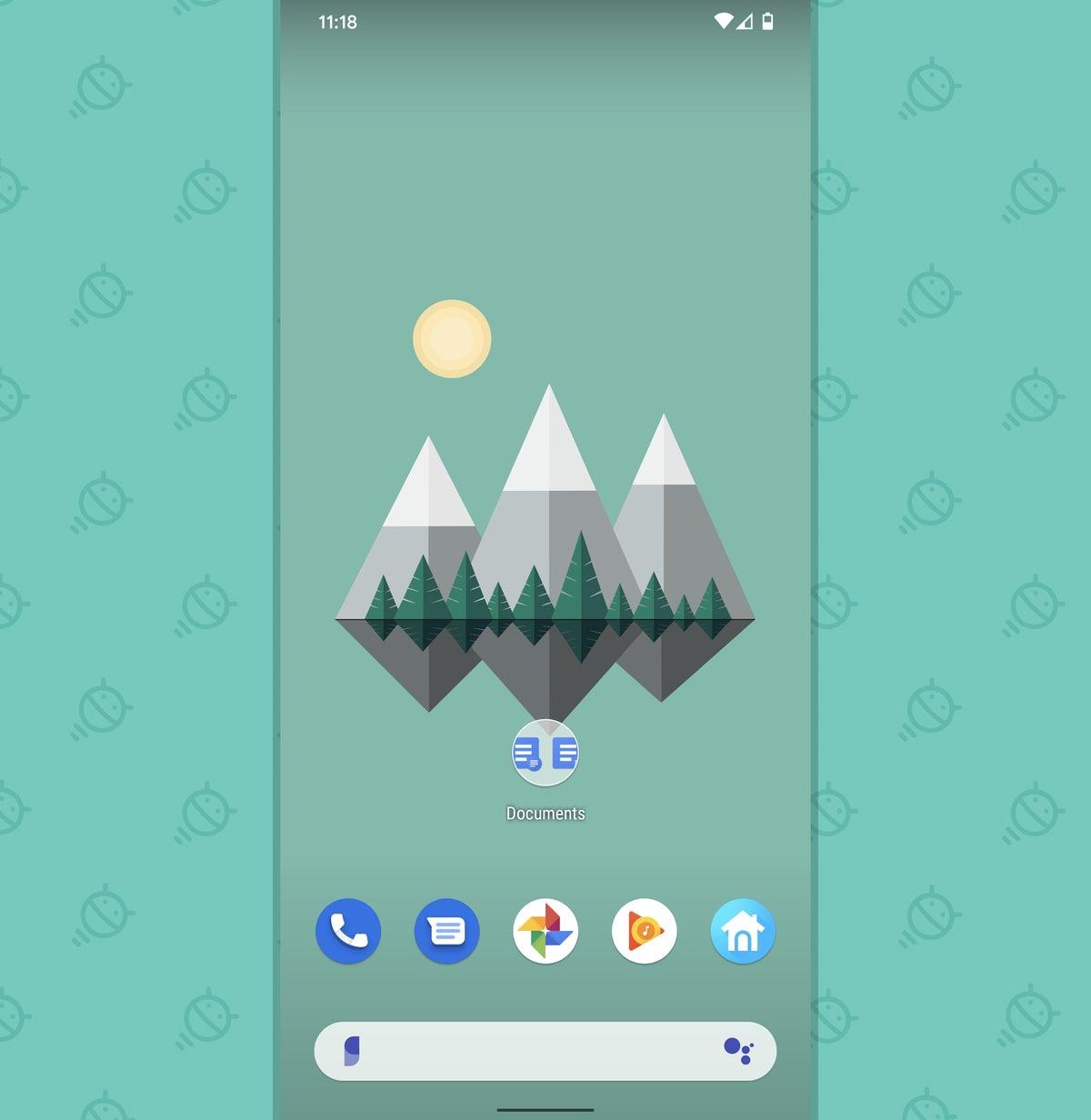 Google Docs Android: carpeta de la pantalla de inicio