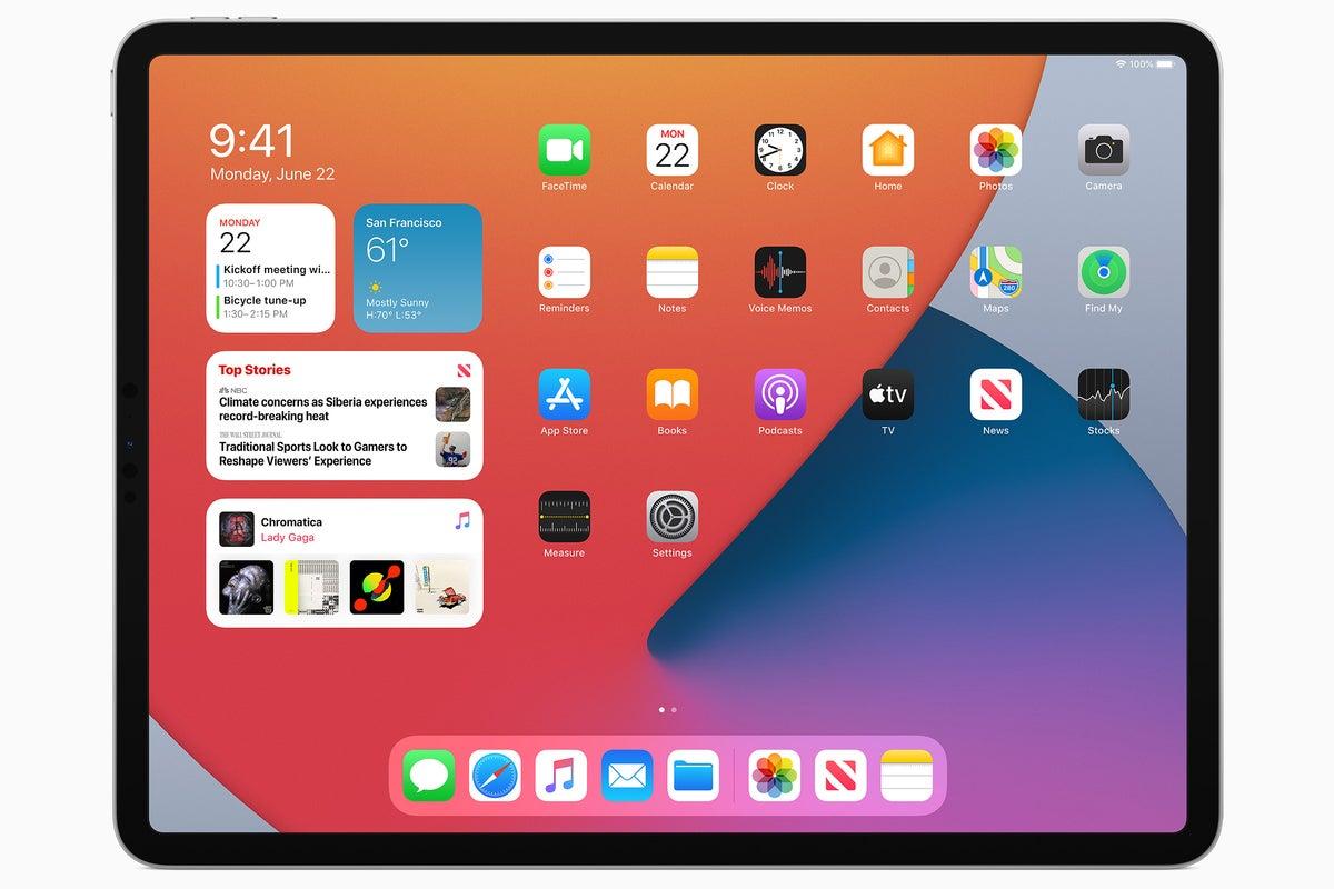 màn hình chính ipados14