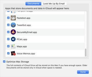 mac911 icloud drive optimize