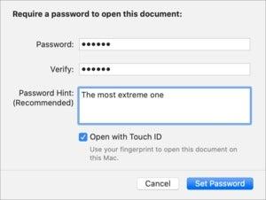 mac911 set pages password