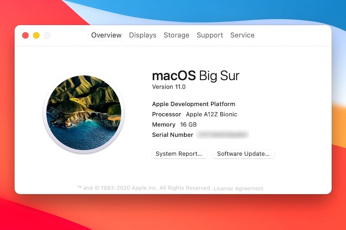 macos big sur about this mac