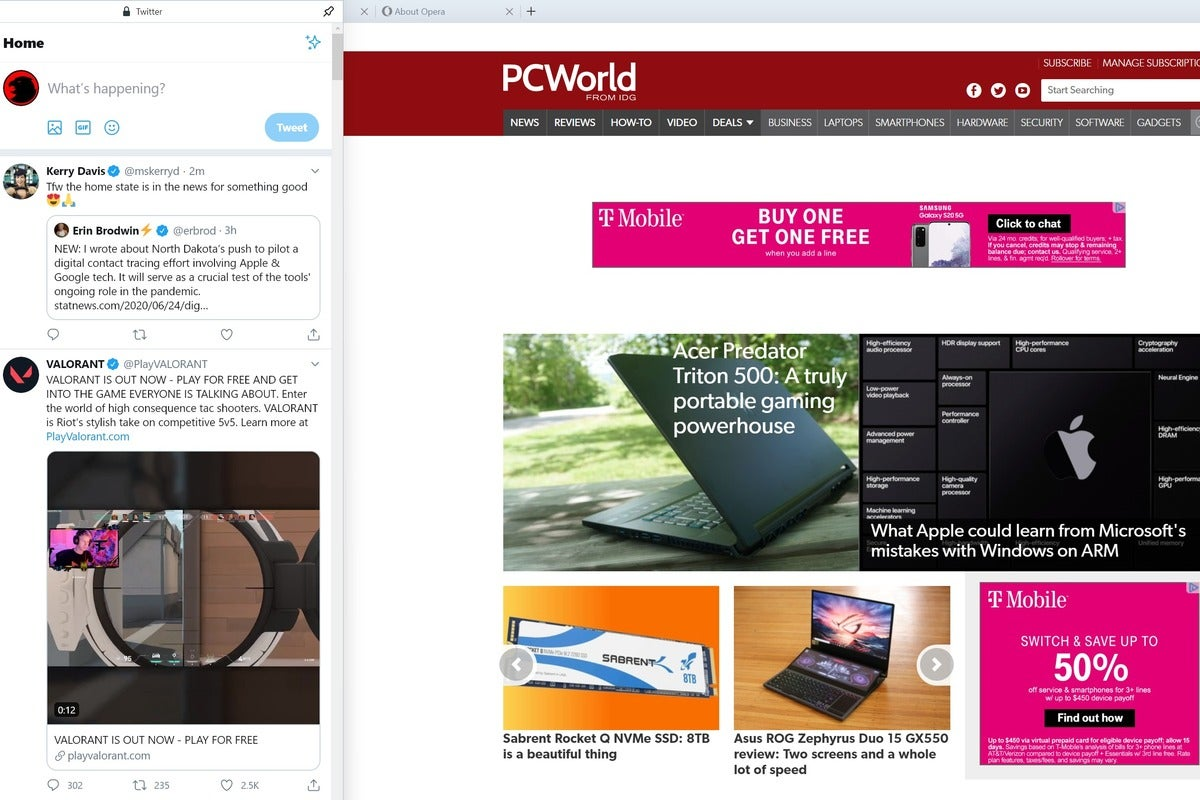 Opera integrates Twitter into new Opera 69 browser thumbnail