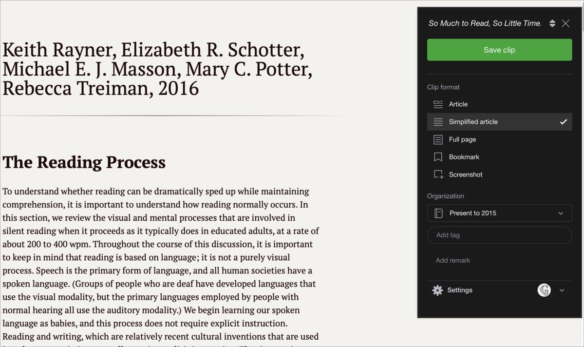 readlater evernote web clipper safari