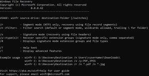 windows file recovery Microsoft app