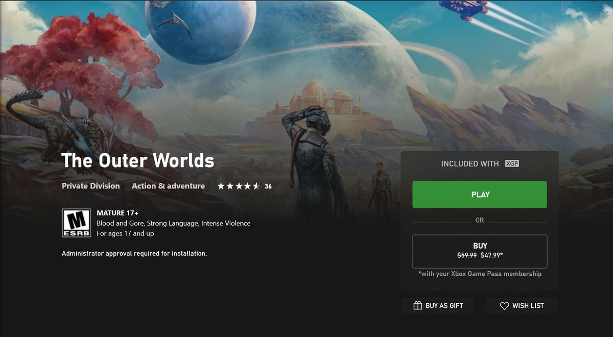 xbgp outer worlds 100850518 large - Why Xbox Game Pass is the best deal in PC gaming