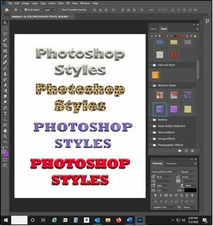03 how to edit photoshop styles