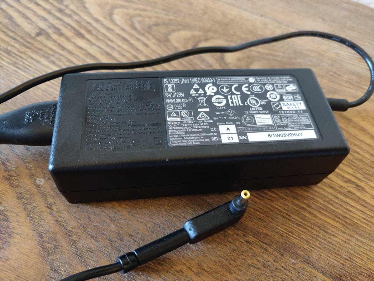 acer spin 3 charger