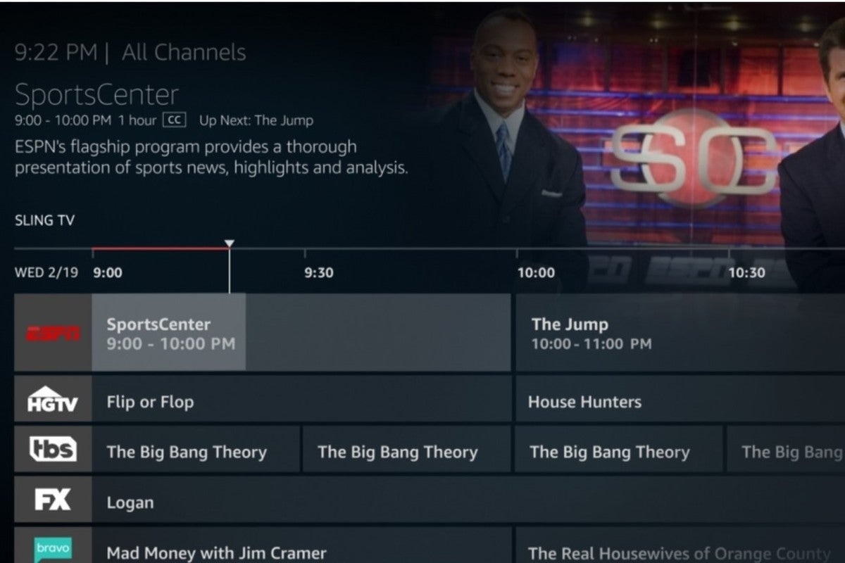 amazon fire tv live programming guide