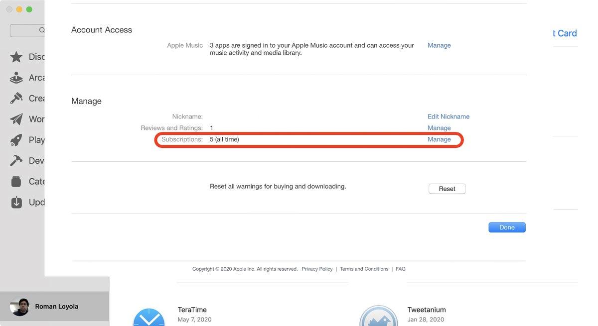 app store catalina subscriptions